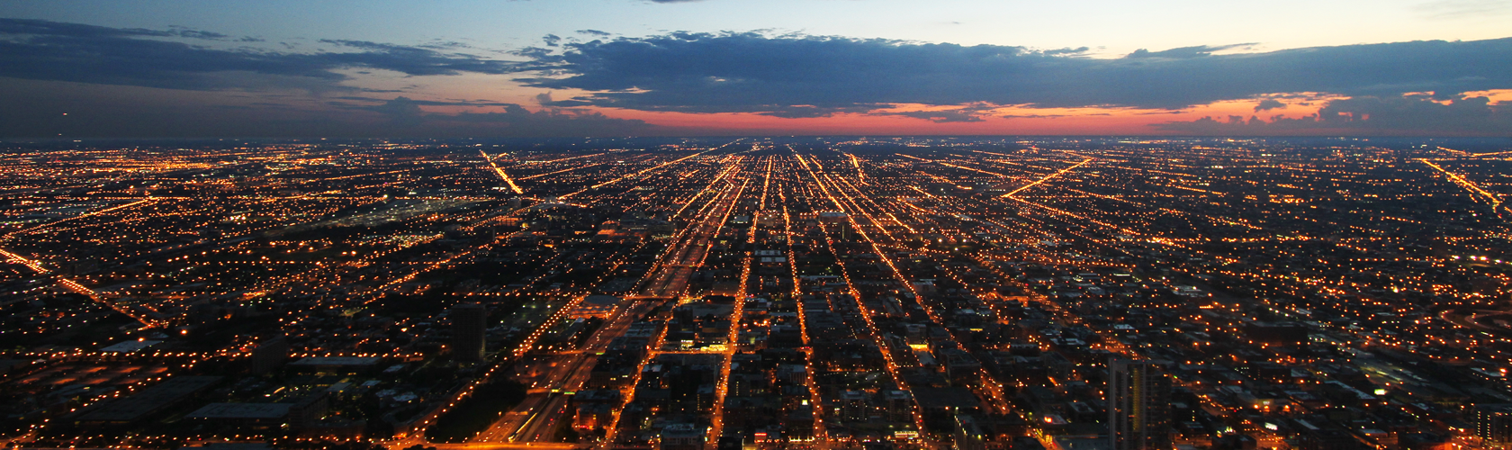 Chicago dawn from Sears Tower